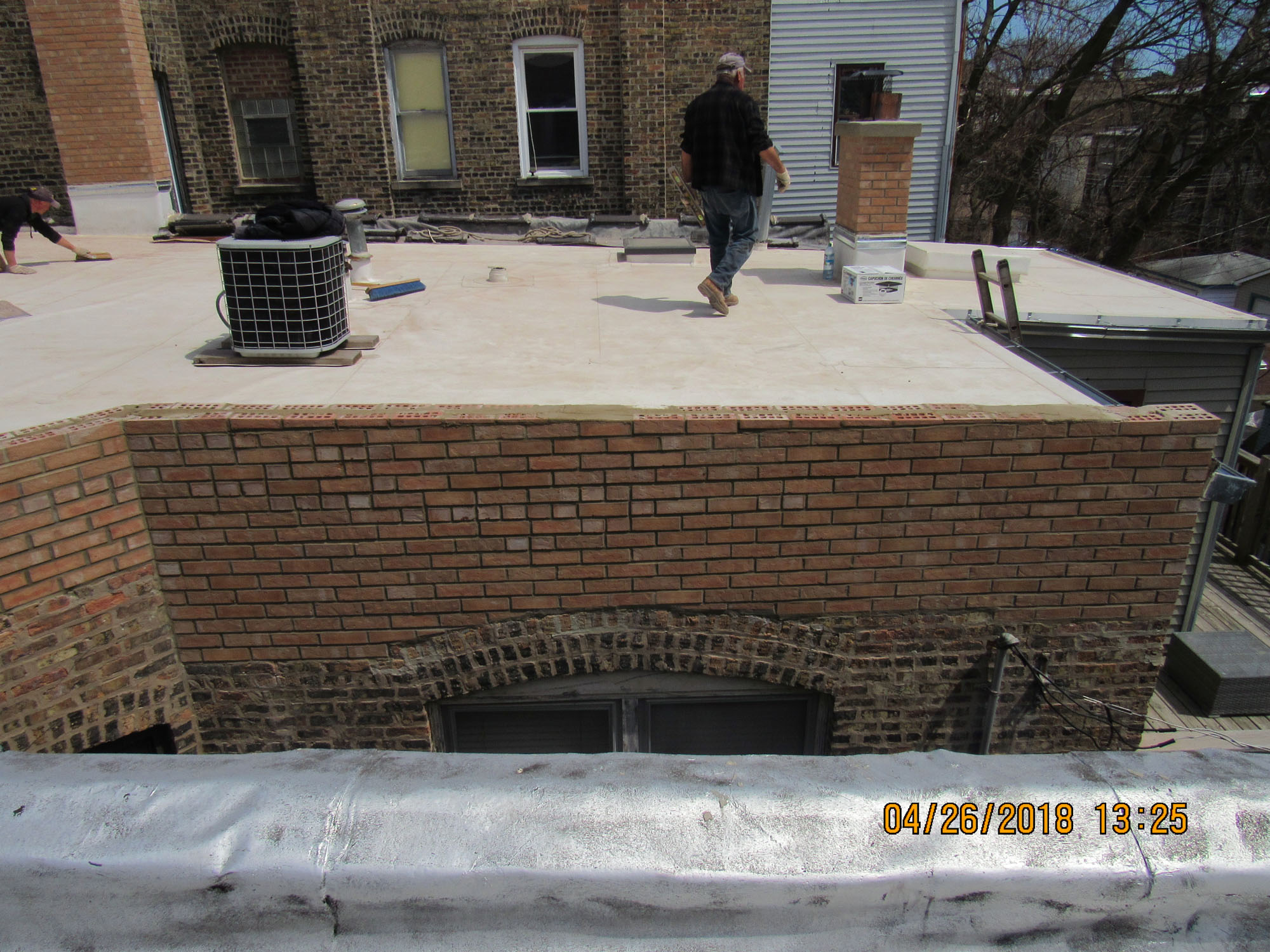 Parapet Wall Rebuilding Repair Crumbling Wall Roof